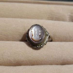 Vintage Cameo sterling silver ring